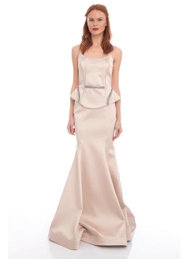 Askılı Uzun Abiye Elbise-Pierre Cardin